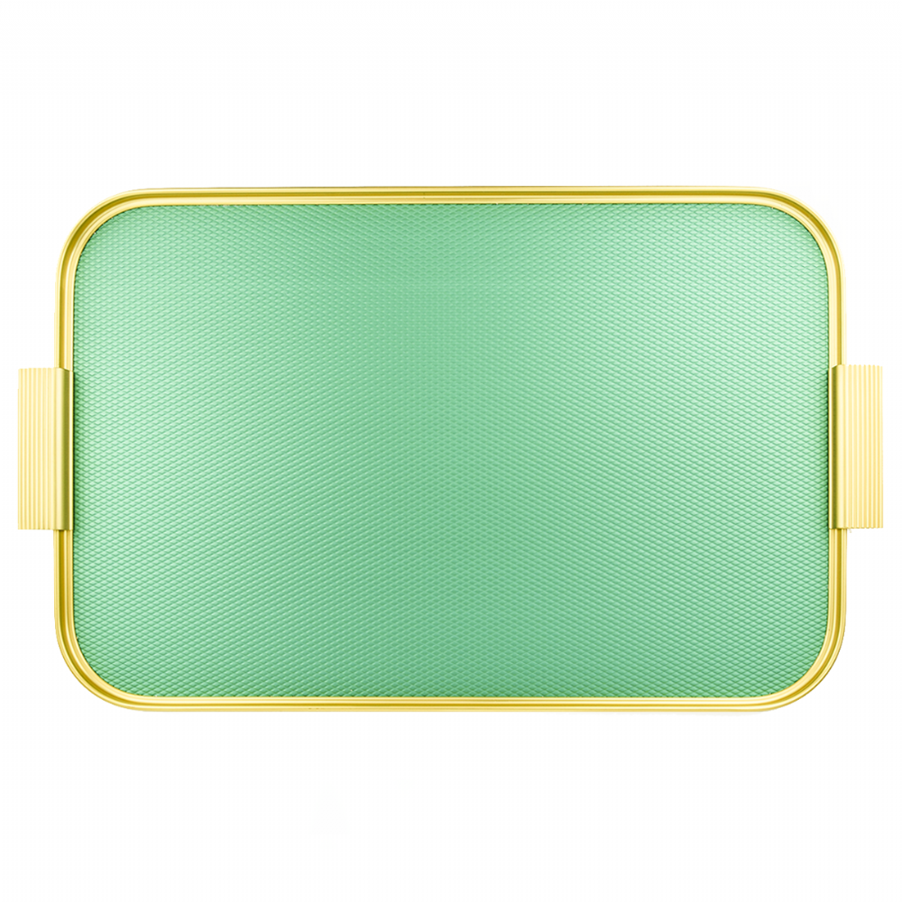 Kaymet Tray - Diamond Emerald Green & Gold